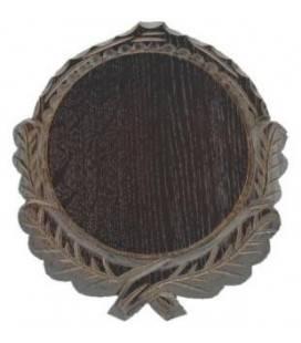 Placa sculptata din stejar pentru trofeu porc mistret