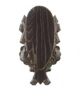 Placa sculptata din stejar pentru trofeu cerb, stejar inchis