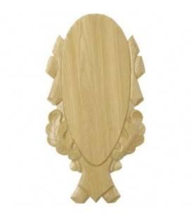 Placa sculptata din stejar pentru trofeu cerb, stejar deschis