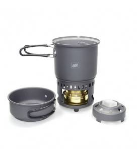 Arzator spirt lichid/solid Esbit cu set de vase