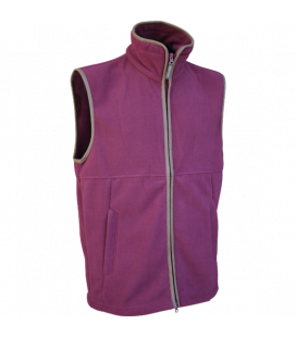 Countryman Fleece Gilet - Burgundy