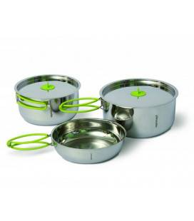 Set vase Pinguin Duo Steel L