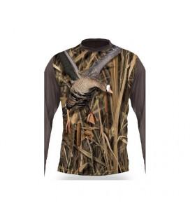 Bluza Imprimeu gasca Hillman 3D T-Shirt LS LICHIDARE STOC