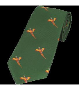 Cravata verde cu fazan