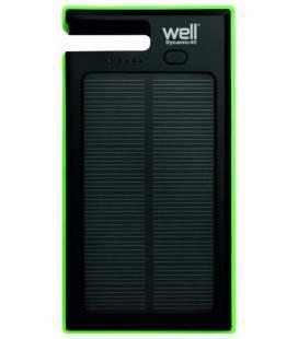 Acumulator USB portabil powerbank solar 4000mAh 2.0A negru/verde Well
