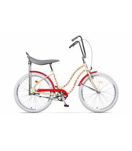 Bicicleta Pegas Strada 2 Crem Flori