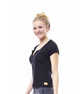 Tricou Discover pentru femei in V, Jobe, Negru-Nero
