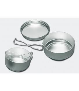 Set vase camping ALB 3 piese  Mess-tin set aluminiu